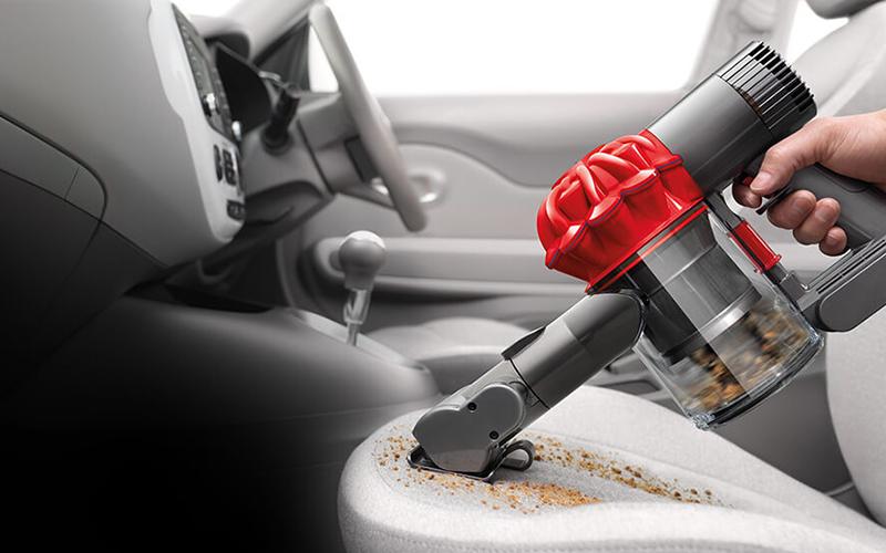 vacuum inside car