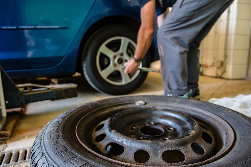 Man patching tires