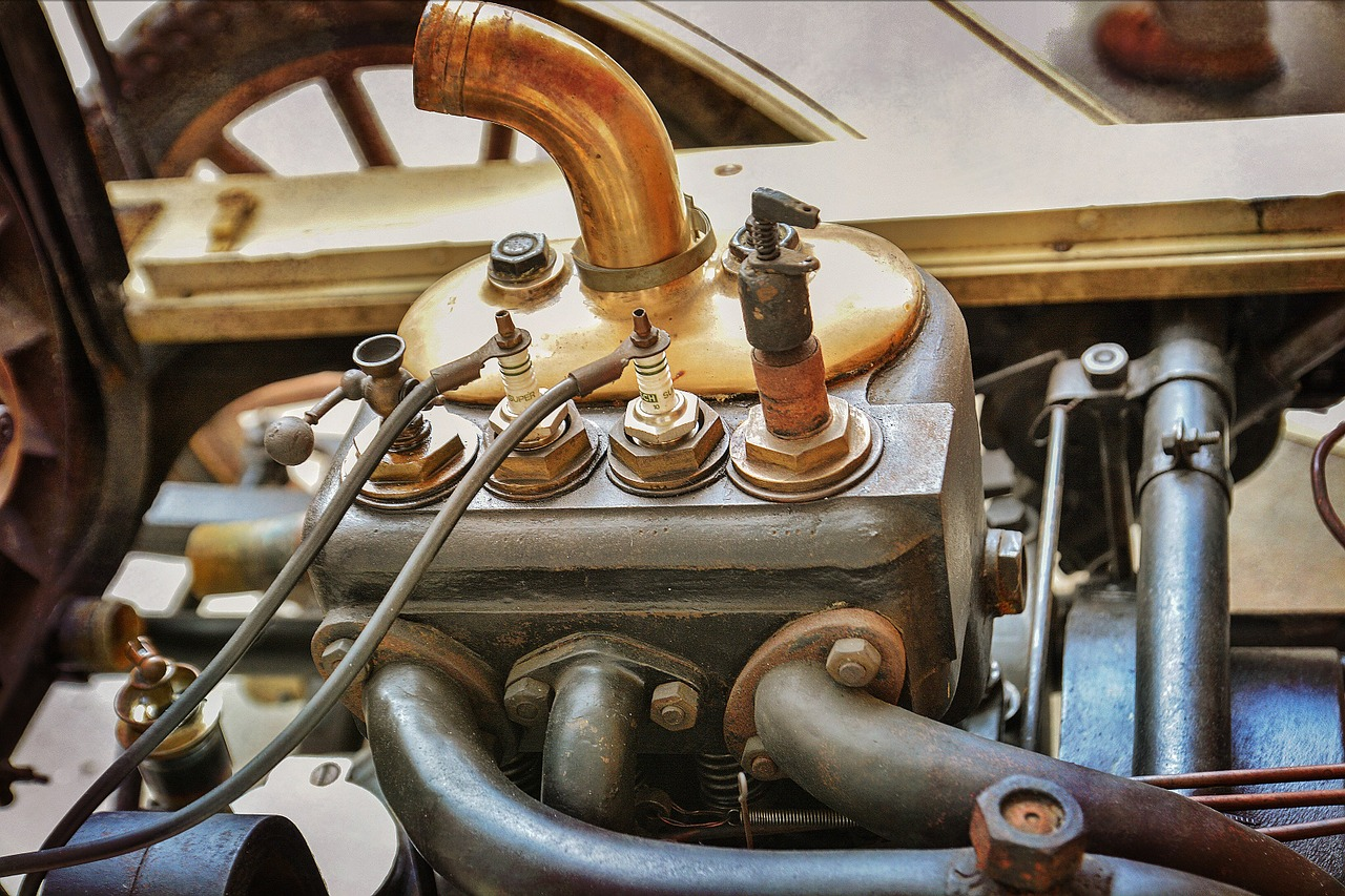 Photo of an engine with a spark plug